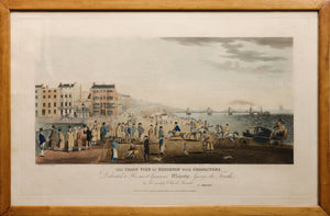 'The Chain Pier at Brighton with Characters' Aquatint circa 1870's