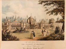Load image into Gallery viewer, Pair of Fine Aquatint Prints. 'The West or Garden Front of the Pavilion at Brighton' and 'The East Front of the Pavilion at Brighton, the Marine Palace of HM George IV' 1824
