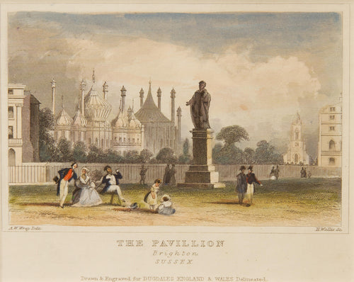 The Pavillion - Antique Steel Engraving circa 1848