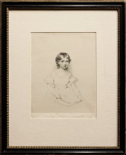 The Princess Victoria Soft Ground Etching circa 1830