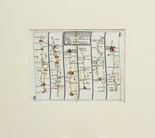 Load image into Gallery viewer, The Road from London to Chichester - Antique Ribbon Map by John Senex circa 1757