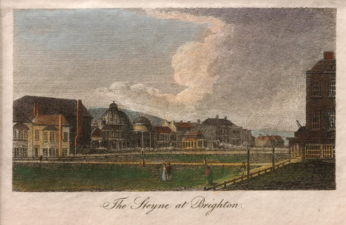 The Steyne Brighton - Antique Copper Engraving circa 1810