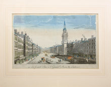 Load image into Gallery viewer, The Strand with St Marys Church, London - Antique Copper Engraving circa 1760s