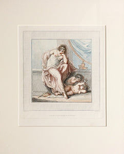 The Tragic Muse - Antique Engraving 1787