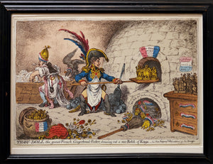 Tiddy-Doll the Great French Gingerbread-Baker - Antique Caricature by Gillray 1806