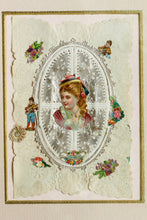 Load image into Gallery viewer, To My Little Pet - Original Antique Victorian Valentine Card