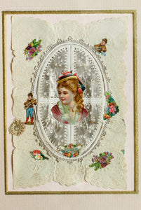 To My Little Pet - Original Antique Victorian Valentine Card