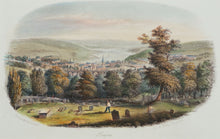 Load image into Gallery viewer, Truro from Kenwyn - Antique Steel Engraving circa 1846