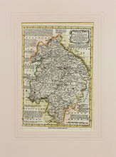 Load image into Gallery viewer, Warwickshire Divided into Hundreds - Antique Map by Bowen circa 1767