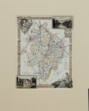 Load image into Gallery viewer, Warwickshire - Antique Map by Thomas Moule circa 1848