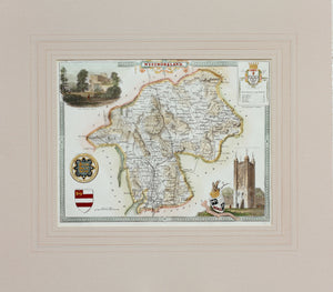Westmoreland - Antique Map by Thomas Moule circa 1848