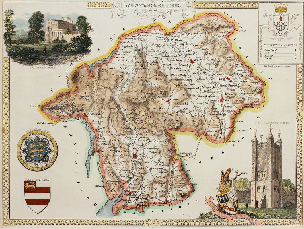 Westmoreland - Antique Map by Thomas Moule circa 1843