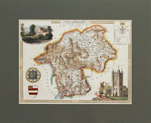 Load image into Gallery viewer, Westmoreland - Antique Map by Thomas Moule circa 1843