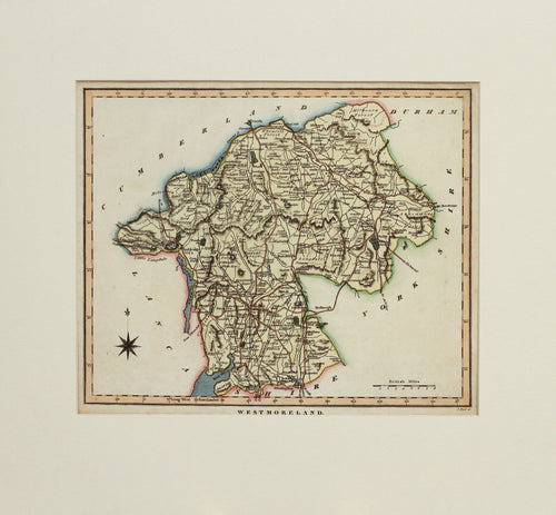 Westmoreland - Antique Map by Neele circa 1818