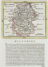 Load image into Gallery viewer, Wiltshire - Antique Map by Seller Grose circa 1787