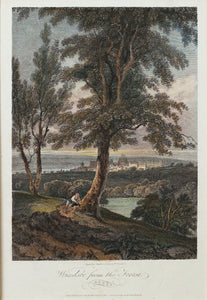 Windsor from the Forest - Antique Copper Engraving circa 1804