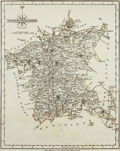 Worcestershire - Antique Map by J Cary 1787