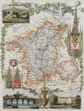 Load image into Gallery viewer, Worcestershire - Antique Map by Thomas Moule circa 1848
