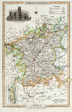 Load image into Gallery viewer, Worcestershire - Antique Map by Pigot 1826-50