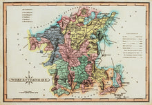 Load image into Gallery viewer, Worcestershire - Antique Map by J Wallis circa 1814