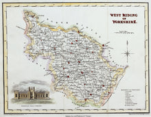 Load image into Gallery viewer, West Riding of Yorkshire - Antique Map by J Neele circa 1832