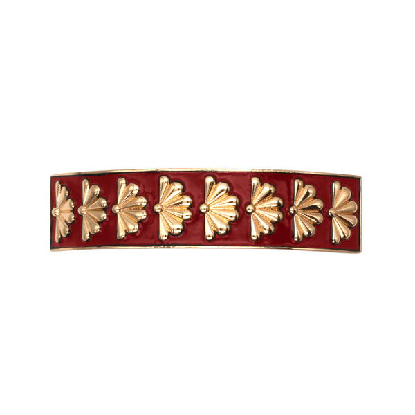 Barrette Amok Eventail - Rouge - Barrettes - Argelouse