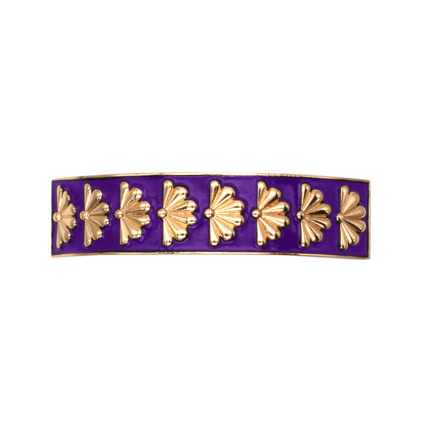 Barrette Amok Eventail - Violet - Barrettes - Argelouse