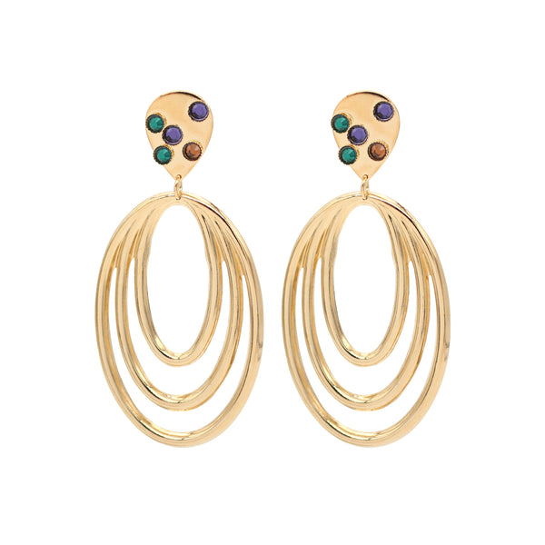 Boucles d'oreilles May - Swarovski® multico - Boucles
