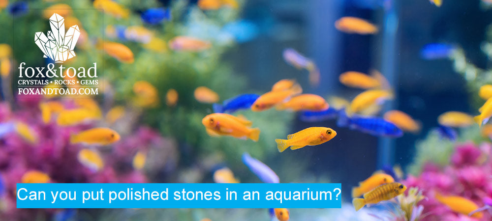 Can you put polished stones in an aquarium?