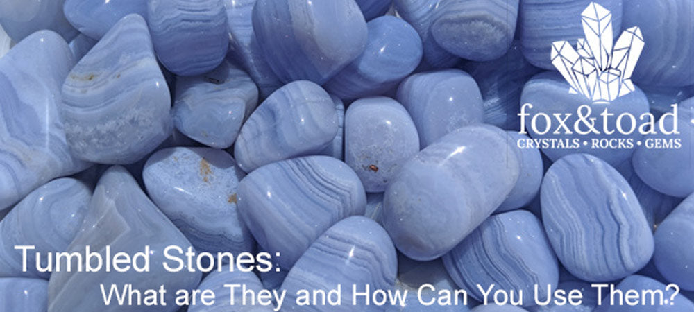 A photo of Blue Lace Agate Tumbled Stones