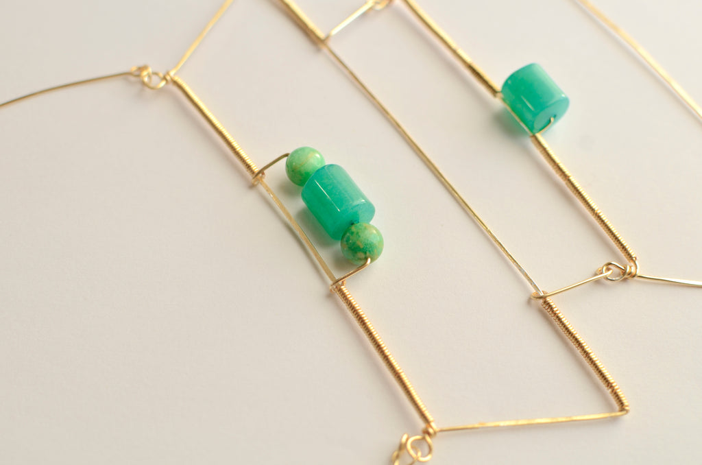 Aventurine Russian Amazonite Gold-filled Necklace designed by April FitzGerald of fox&toad jewelry
