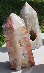 Mexican Crazy Lace Agate Generator Towers
