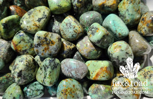 Turquoise, African Tumbled Stones