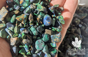 Azurite with Malachite Gemstone Chips