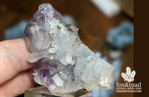 Phantom Fluorite with Quartz and Calcite (Shambago, China)