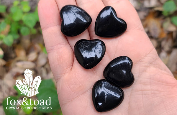 Pocket Heart — Obsidian, Black