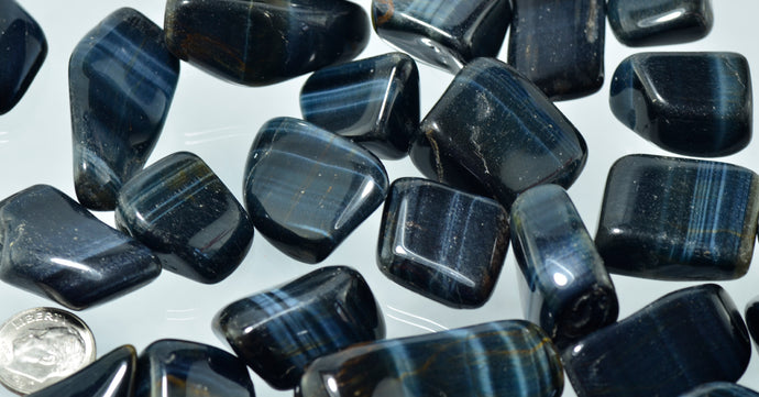 Blue Tiger's Eye Tumbled Stones