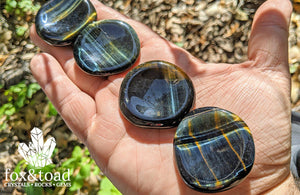 Tiger's Eye, Blue Worry Stone