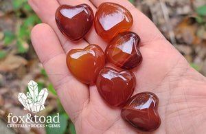 Pocket Heart — Carnelian