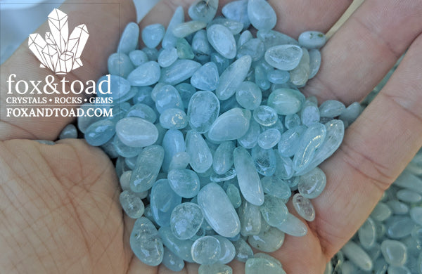 Aquamarine Gemstone Chips