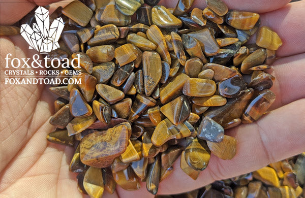 Tiger's Eye, Gold, Gemstone Chips