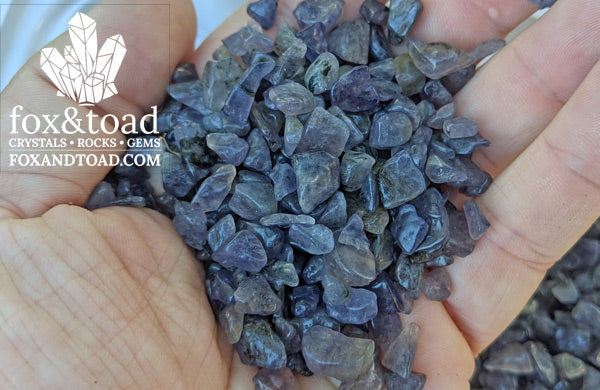 Iolite Gemstone Chips