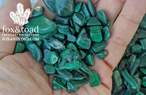 Malachite Gemstone Chips