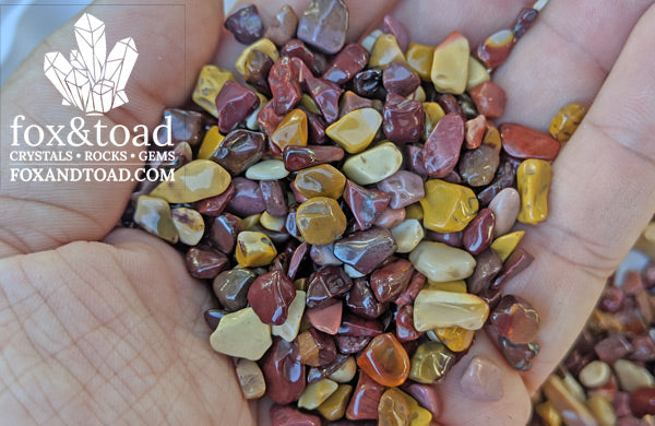 Jasper, Mookaite Gemstone Chips