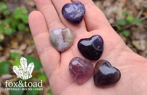 Pocket Heart — Fluorite