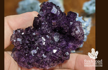 Purple Fluorite with Calcite, Sierra Grande Mine, Mexico