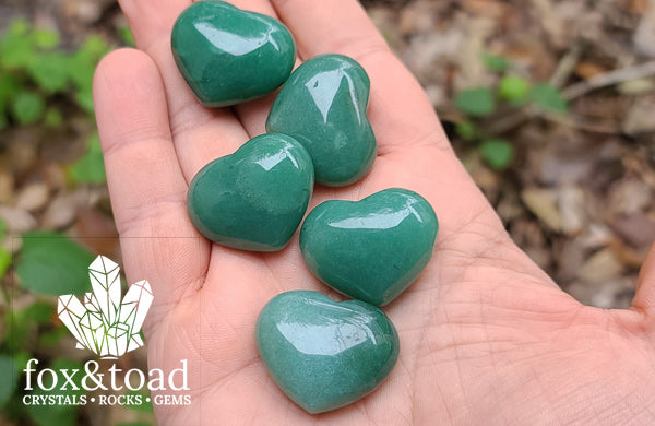 Pocket Heart — Aventurine, Green