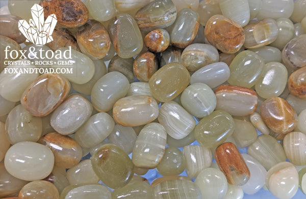 Calcite, Green Tumbled Stones