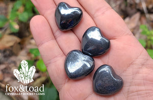 Pocket Heart — Hematite