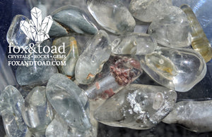 Indicolite in Quartz Tumbled Stones